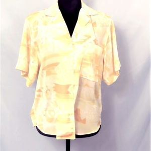 Vintage Short Sleeved Blouse By Christian Dior